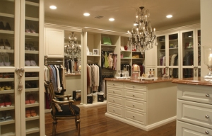 The closet of the 21st century. I'm pretty sure a full bedroom suit could fit in here for a child and leave a little room.