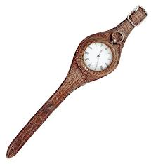 One of the first wrist watches. Men started wearing them after the first World War. They paved the way for the elegant wristwear we wear today.