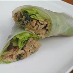 Lemon Grass and Chicken Summer Rolls. Recipe on www.allrecipes.com